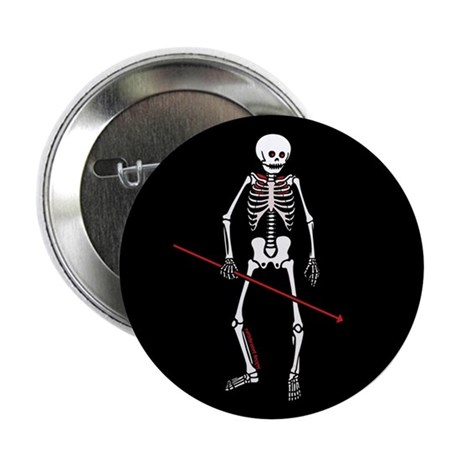 "Hunting Skeleton 2.25"" Button"