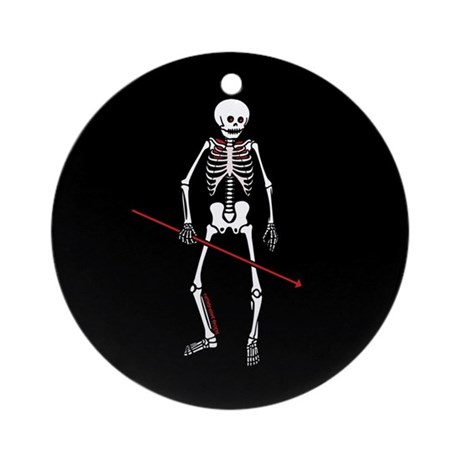 Hunting Skeleton Ornament (Round)