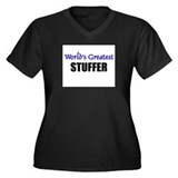 Worlds Greatest STUFFER Women's Plus Size V-Neck D