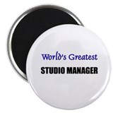 Worlds Greatest STUDIO MANAGER Magnet