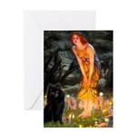 Fairies & Schipperke Greeting Card
