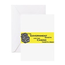 Government Giveth Greeting Cards