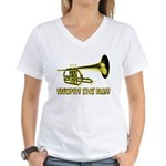 Trumpets Kick Brass Women's V-Neck T-Shirt