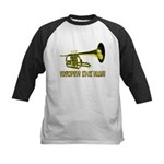 Trumpets Kick Brass Kids Baseball Jersey
