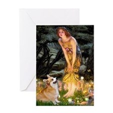Fairies & Corgi Greeting Card