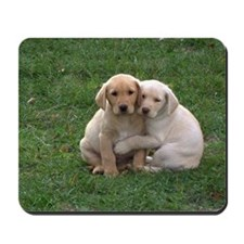 Yellow Lab Pups Mousepad