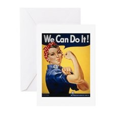 Rosie Riveter We Can Do It Greeting Cards (Package