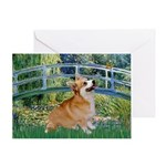 Bridge / Corgi Greeting Card