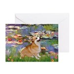Lilies (2) & Corgi Greeting Cards (Pk of 20)