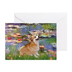 Lilies (2) & Corgi Greeting Cards (Pk of 20)
