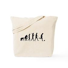 Evolution of Soccer Tote Bag