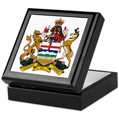Alberta Coat of Arms (Big) Keepsake Box