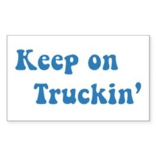 Keep on Truckin' Rectangle Decal