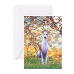 Spring / Whippet Greeting Cards (Pk of 20)