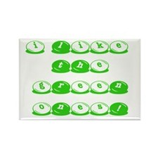 Green M&M's Rectangle Magnet (100 pack)