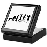 Evolution of bodybuilding Keepsake Box