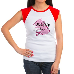 Naughty Candy Cane Women's Cap Sleeve T-Shirt