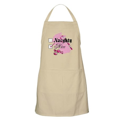 Nice Candy Cane BBQ Apron