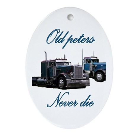 Old Peter Never Die Oval Ornament