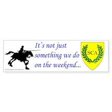 Not Just Equestrian Bumper Sticker