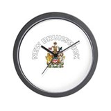 New Brunswick Coat of Arms Wall Clock