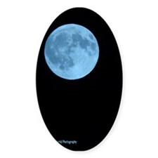 Once in a Blue Moon Oval Decal