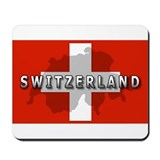 Switzerland Flag Plus Mousepad