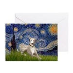 Starry Night Whippet Greeting Card