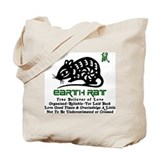 Chinese Zodiac Earth Rat Tote Bag