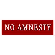 No Amnesty Bumper Bumper Sticker