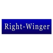 Right-Winger Bumper Bumper Sticker