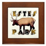 Estes Park , Colorado Elk  Framed Tile