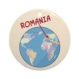 Romania Globe Ornament (Round)