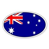 Australian stickers Oval Decal