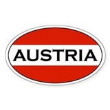 Austrian Bumper Stickerss Oval Bumper Stickers