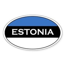Estonian Decals Oval Decal