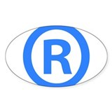 Registered Oval Decal