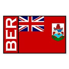 Bermudan stickers Rectangle Decal