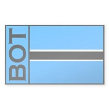 Botswanan sticker Rectangle Decal
