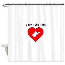West Virginia Heart Cutout Shower Curtain