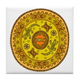 Circle with Lizards Tile Coaster