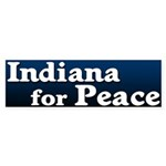 Indiana for Peace Bumper Sticker