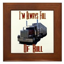 I'm Allways Full of Bull Framed Tile