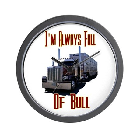 I'm Allways Full of Bull Wall Clock