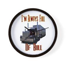 I'm Allways Full of Bull Wall Clock