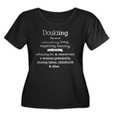 Doulaing on Dark Women's Plus Size Scoop Neck Dark