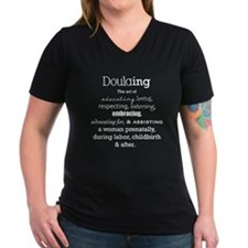 Doulaing on Dark Shirt