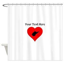 West Virginia Heart Shower Curtain