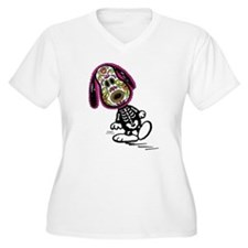 Day of the Dog Sn Women's Plus Size V-Neck T-Shirt