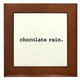chocolate rain. Framed Tile